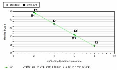 Đường chuẩn của phản ứng realtime pcr