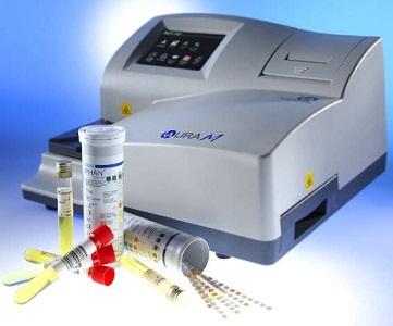 Máy xét nghiệm nước tiểu 11 thông số, model Laura M, hãng Erba - Đức